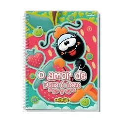 Caderno Universitário Smilinguido 96 folhas O amor de Deus é doce