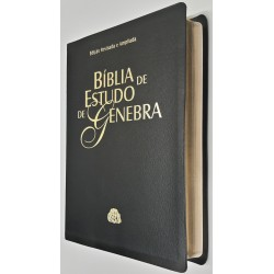 Bíblia de Estudo de Genebra capa luxo - preta