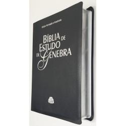 Bíblia de Estudo de Genebra capa luxo - azul