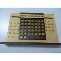Calendário dinâmico com base 10cmx18cm (Caixa com 12 unidades)