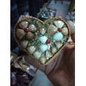 Porta jóias conchas camurçado médio