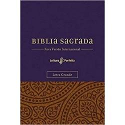 Bíblia NVI, Couro Soft, Roxo e Amarelo, Letra Grande, Com Espaço para Anotações, Leitura Perfeita